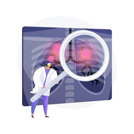 Respiratory disease vector concept metaphor