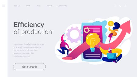 Productivity landing page template.