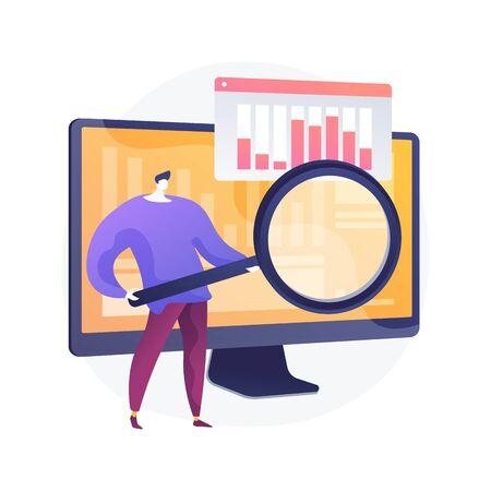 Data analytics online course vector concept metaphor.