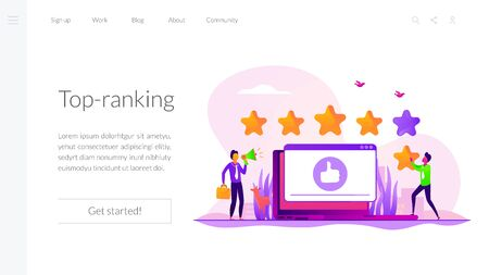 Rating landing page template
