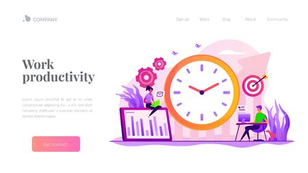 Productivity landing page template