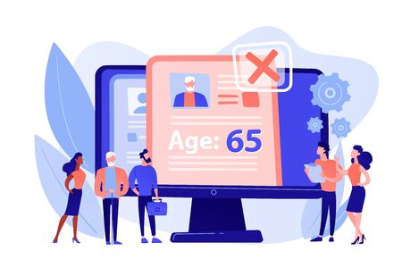Ageism social problem concept vector illustration