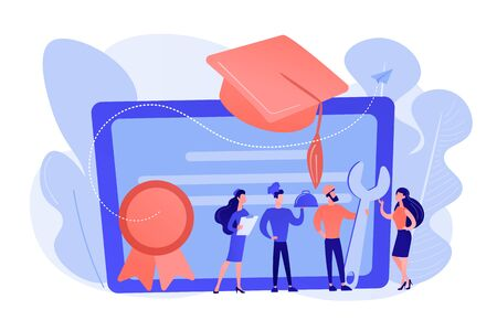 Vocational education concept vector illustration. Vectores