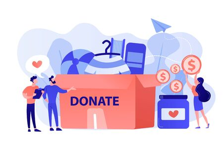 Donation concept vector illustration. Çizim