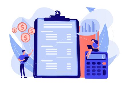 Income statement concept vector illustration. Иллюстрация