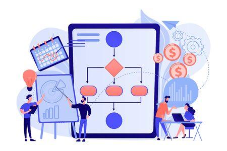 Business process management concept vector illustration. Illustration