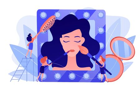 Beauty salon concept vector illustration.