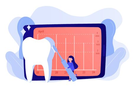 Children s electric toothbrush concept vector illustration Ilustração