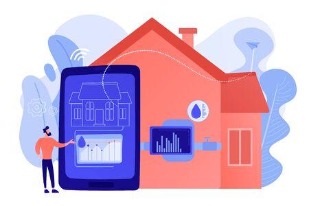 Water contamination detection system concept vector illustration Vektoros illusztráció