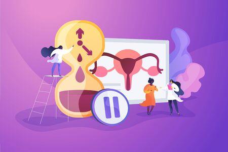 Menopause concept vector illustration