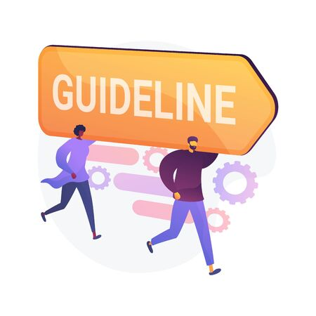 Guideline and regulation. Corporate law and policy. Company specification, instruction, directive rulebook. Office management design element. Vector isolated concept metaphor illustration Ilustração