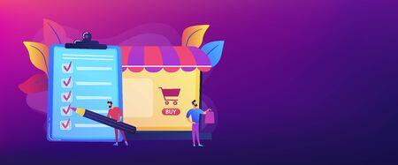 Purchase agreement concept banner header