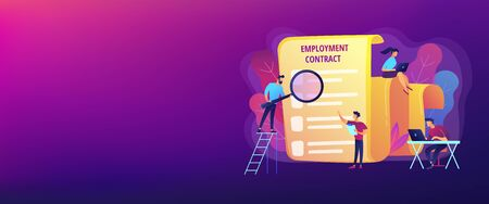 Employment agreement concept banner header