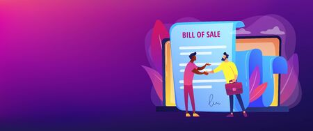 Bill of sale concept banner header