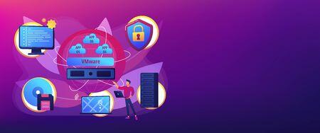 Virtualization technology concept banner header