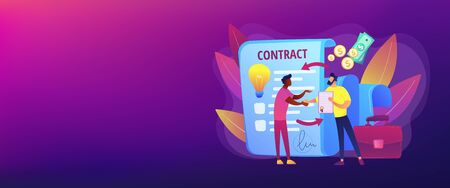Licensing contract concept banner header