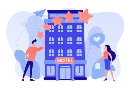 Boutique hotel concept vector illustration.