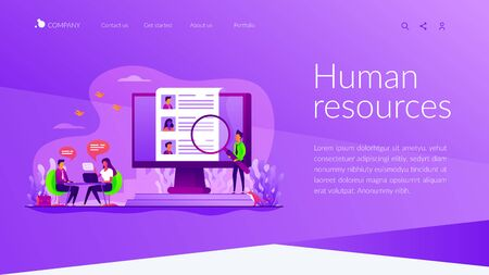 Human resources landing page template