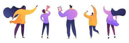 Marketing business flat vector illustrations set