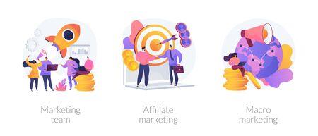 Marketing strategie vector concept metaforen.