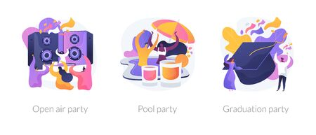 Outdoor party vector concept metaphors.