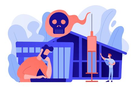 Ilustración de vector de concepto de centro de rehabilitación de drogas. Ilustración de vector