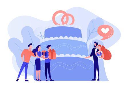 Wedding party concept vector illustration. Stock Illustratie