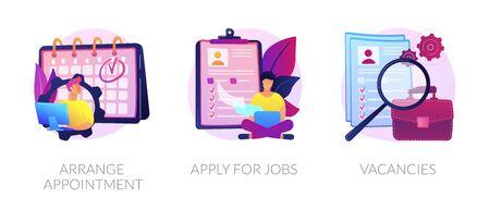 Job application vector concept metaphors. Ilustracja