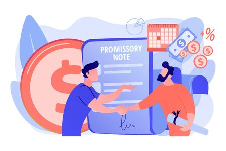 Promissory note concept vector illustration