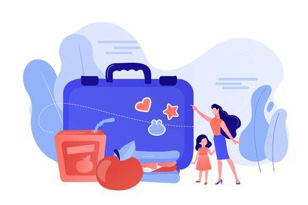 Kids lunch box concept vector illustration. Stock Illustratie
