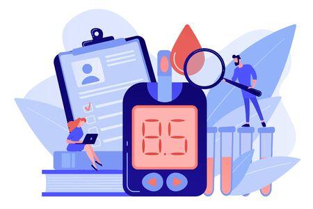 Diabetes mellitus concept vector illustration.