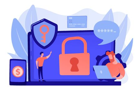 Cyber security software concept vector illustration. Stock Illustratie