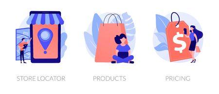Online store vector concept metaphors. 向量圖像