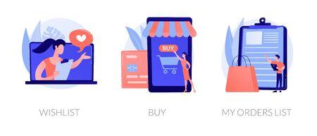 Online shopping vector concept metaphors.