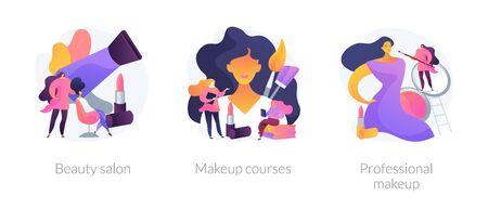 Makeup vector concept metaphors. Ilustracja