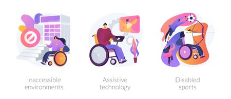 Disabled people environment vector concept metaphors.