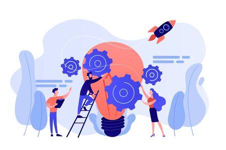 Idea management concept vector illustration.  イラスト・ベクター素材