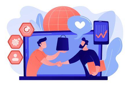 Customer Relationship Management concept vector illustration.