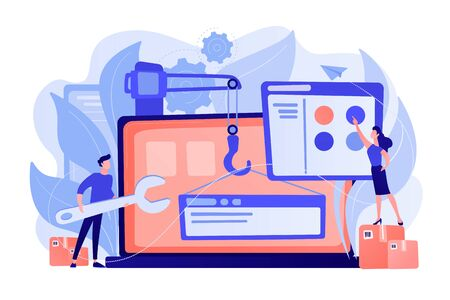 WEB development concept vector illustration Illustration