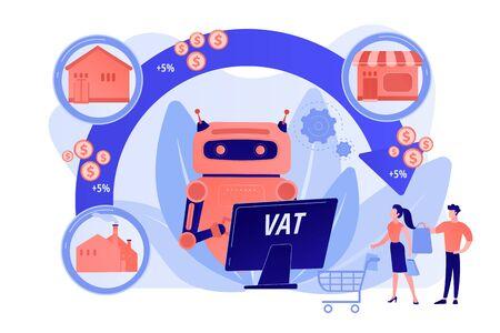 Value added tax system concept vector illustration