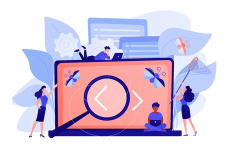 Software testing it concept vector illustration