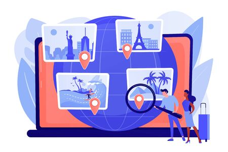 Smart tourism system concept vector illustration