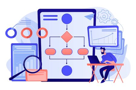 Business process automation BPA concept vector illustration. Ilustracja