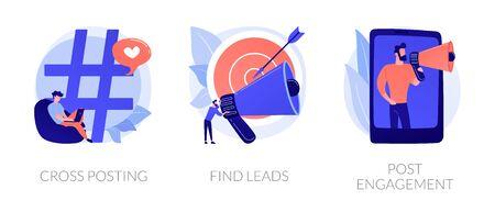 Smm tools vector concept metaphors.