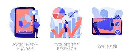 Social media optimisation vector concept metaphors. Ilustração