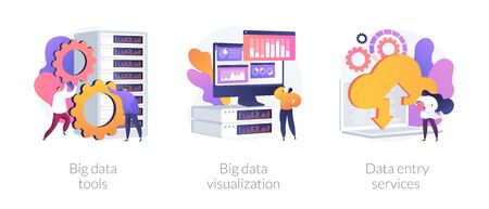 Big data vector concept metaphors