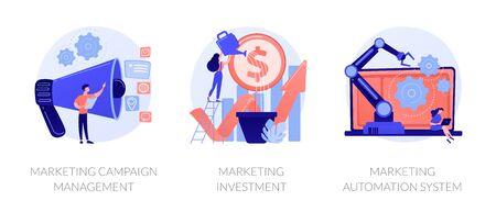 Marketing campaign vector concept metaphors
