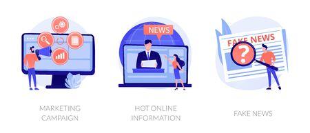 Yellow journalism vector concept metaphors Stock Illustratie