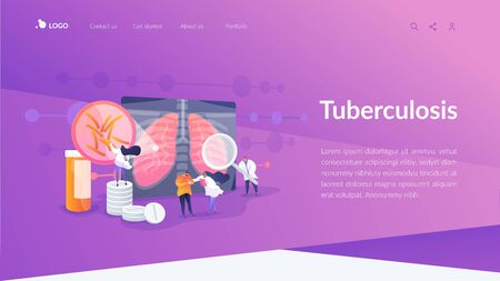 Tuberculosis landing page concept