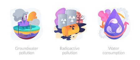 Water pollution vector concept metaphors